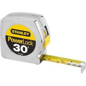 Stanley Tools 33-430 30 ft x1 in Tape Rule Powerlock