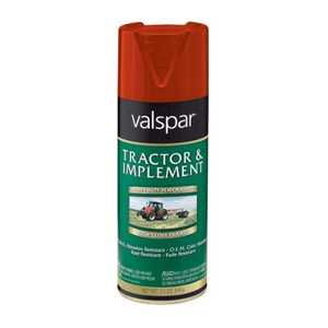 Valspar 5339-02 Interior/Exterior Tractor And Implement Enamel Spray Paint Massey Ferguson Red High-Gloss Finish 12-Ounce Can