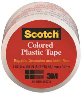 Scotch 191C 1.5-Inch X 3.47-Yard Transparent Plastic Tape