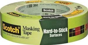Scotch 2060 1.41-Inch X 60.1-Yard Hard-To-Stick Surfaces Masking Tape