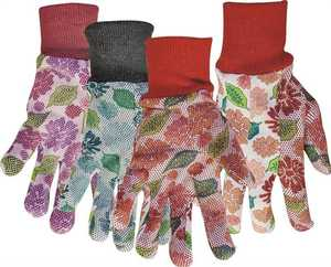 Boss Gloves 751 Ladies Jersey Garden Gloves With PVC Dots Large