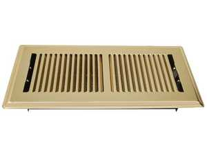 American Metal RU412SPC-R 12x4 Polished Brass Register