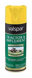 Valspar 5339-08 Interior/Exterior Tractor And Implement Enamel Spray Paint Caterpillar Yellow High-Gloss Finish 12-Ounce Can