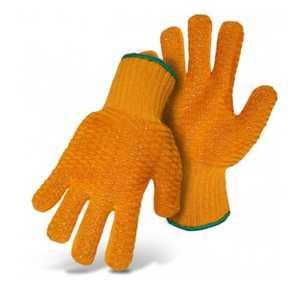 Boss Gloves 4099 Reversible Spun Nylon Knit Vinyl Print Palm, Size Large