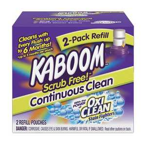 Church & Dwight 35133 Kaboom Scrub Free! Toilet Cleaning System Refill 2-Pack