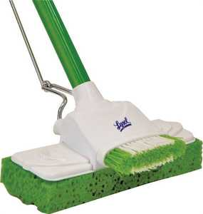 Quickie 57045CAN Lysol Dual Action Sponge Mop With Scrub Brush