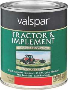Valspar 4432-20 Interior/Exterior Tractor And Implement Enamel Paint Ford Red High-Gloss Finish Quart