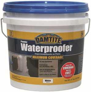 Damtite Waterproofing 01211 Maximum Coverage Heavy Duty Powder Waterproofer White 21-Pound