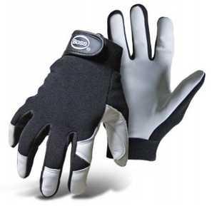 Boss Gloves 4047X Boss Guard White Goatskin Palm Mechanic Gloves, Size X-Large