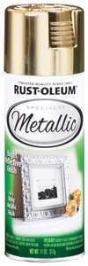 Rust-Oleum 1910830 Specialty Interior Metallic Spray Paint Gold 11-Ounce