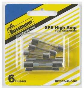 Bussmann Fuses BP/SFE-AH Auto Fuse Glass Asst