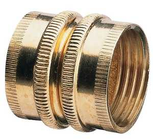 Gilmour 7FHS7FH 3/4-Inch X 3/4-Inch Brass Double Female Hose Connector