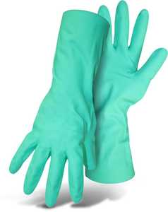 Boss Gloves 118L Home N' Yard Nitrile Gloves With Gauntlet Cuff, Large