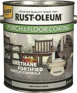 Rust-Oleum 244847 Interior/Exterior Porch And Floor Coating Dove Gray Gallon