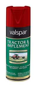Valspar 5339-01 Interior/Exterior Tractor And Implement Enamel Spray Paint International Harvester Red High-Gloss Finish 12-Ounce Can