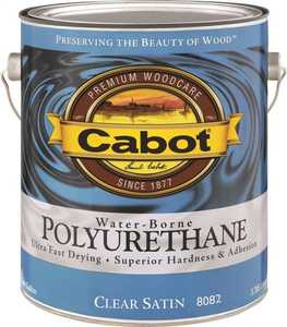 Cabot 8082 Interior Water-Borne Polyurethane Clear Satin