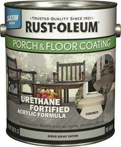 Rust-Oleum 244054 Interior/Exterior Porch And Floor Coating Dove Gray Gallon