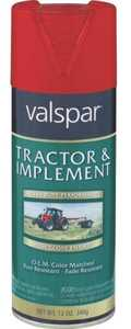 Valspar 5339-23 Interior/Exterior Tractor And Implement Enamel Spray Paint Red Oxide High-Gloss Finish 12-Ounce Can