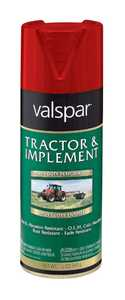 Valspar 5339-20 Interior/Exterior Tractor And Implement Enamel Spray Paint Ford Red High-Gloss Finish 12-Ounce Can