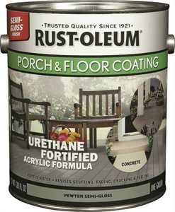 Rust-Oleum 244058 Interior/Exterior Porch And Floor Coating Pewter Gallon