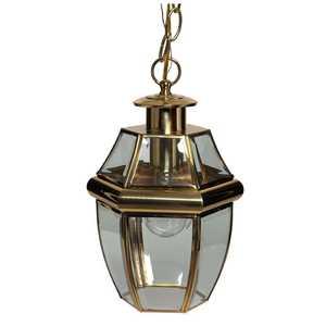 Boston Harbor 8067H-PB 1-Light Polished Brass Hanging Lantern