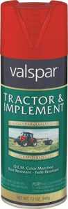Valspar 5339-05 Interior/Exterior Tractor And Implement Enamel Spray Paint New Holland Red High-Gloss Finish 12-Ounce Can