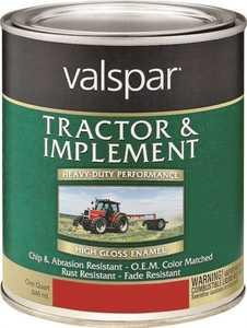 Valspar 4432-01 Interior/Exterior Tractor And Implement Enamel Paint International Harvester Red High-Gloss Finish Quart