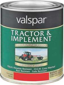 Valspar 4432-02 Interior/Exterior Tractor And Implement Enamel Paint Massey Ferguson Red High-Gloss Finish Quart