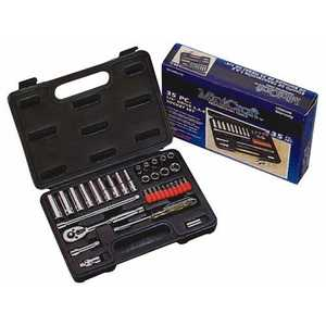Vulcan TS1035 1/4-Inch Drive 9-Point Sae Socket Wrench Set 35-Piece