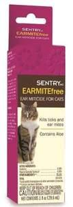 Sergeant's Pet 02103 1-Fl. Oz. Sentry EarmiteFree Ear Miticide For Cats