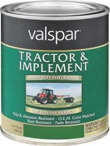 Valspar 4432-11 Interior/Exterior Tractor And Implement Enamel Paint Oliver Green High-Gloss Finish Quart