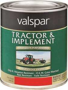 Valspar 4432.03 Interior/Exterior Tractor And Implement Enamel Paint Allis Chalmers Orange High-Gloss Finish Quart