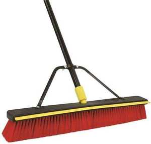 Quickie 00635SU 2 in 1 Push Broom With Squeegee