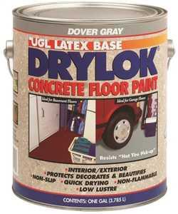 United Gilsonite Laboratories 21413 Drylok Interior/Exterior Concrete Floor Paint Dover Gray