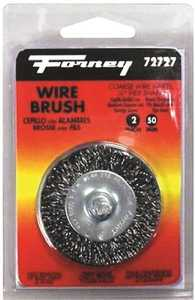 Forney Industries 72727 Coarse Crimped Wire Wheel Brush 2 In Diameter