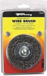 Forney Industries 72735 Coarse Crimped Wire Wheel Brush 3 In Diameter