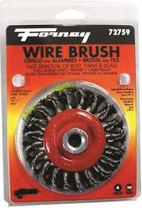 Forney Industries 72759 Twist Knot Wire Wheel Brush 4 In