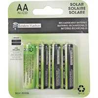 Boston Harbor BT-NC-AA-900-D4 Solar Battery 4pk 900mah Nicad