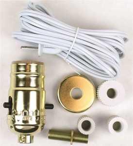 Jandorf 60131 Make A Lamp Or Repair Kit Brass Finish