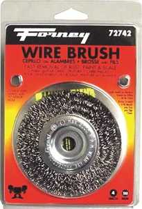 Forney Industries 72742 Coarse Crimped Wire Wheel Brush 4 In