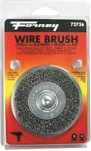 Forney Industries 72736 Fine Crimped Wire Wheel Brush 3 In