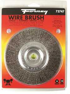 Forney Industries 72747 Fine Crimped Wire Wheel Brush 6 In