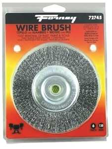 Forney Industries 72745 Coarse Crimped Wire Wheel Brush 6 In