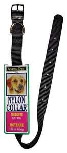 Aspen Pet 15410 5/8 x 14-Inch Black Nylon Dog Collar