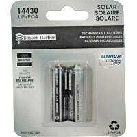 Boston Harbor BTLP14430400-D2 Solar Battery 2pk 400mah Lith