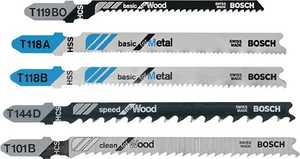 Bosch T500 5 Piece T-Shank Jig Saw Blade Set