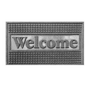 WJ Dennis FUWBL1830 18 In X 30 In Recycled Rubber Functional Scraper Welcome Door Mat