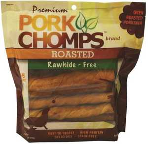 SCOTT PET PRODUCTS DT010 Pork Chomps Roasted Twists Rawhide Free Dog Treat