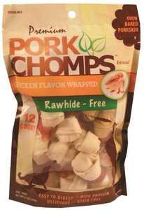 SCOTT PET PRODUCTS DT464 Pork Chomps Chicken Mini Knots 12 Count Dog Treat