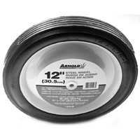 Arnold Corp 1275-B 12-Inch Steel Diamond Tread Wheel